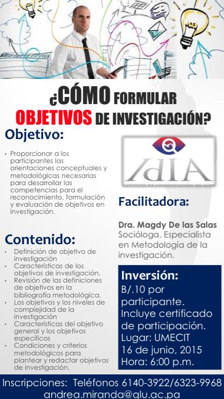 cursos de investigacion en Panama
