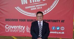 Rector Oscar Leon en visita oficial Coventry University