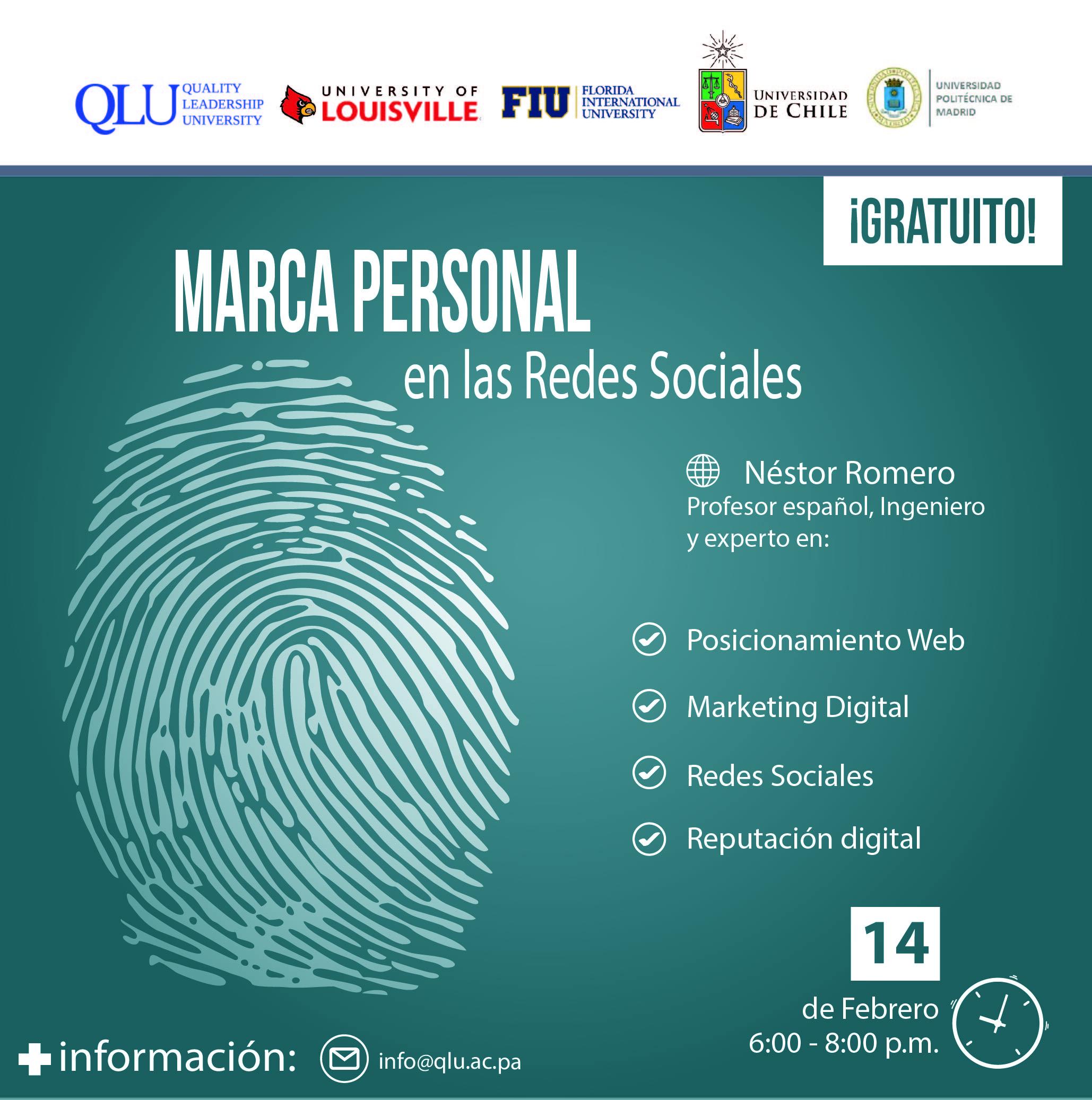 14 De Febrero Conferencia Gratuita Marca Personal En