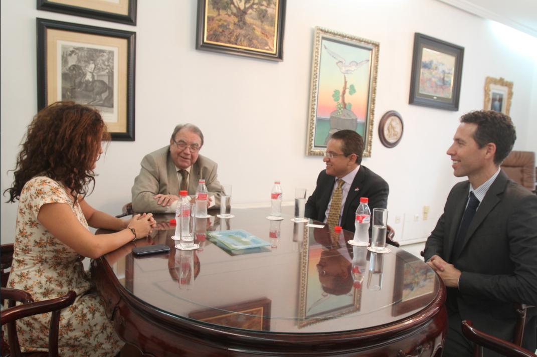 Rector de QLU Oscar León, se reunió con el presidente de la Cámara de Comercio de Málaga