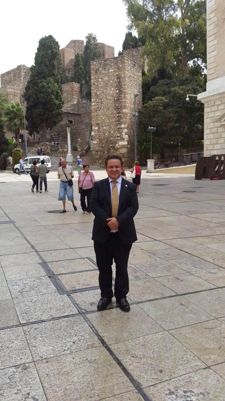 Rector Oscar Leon en visita oficial Universidad de Malaga