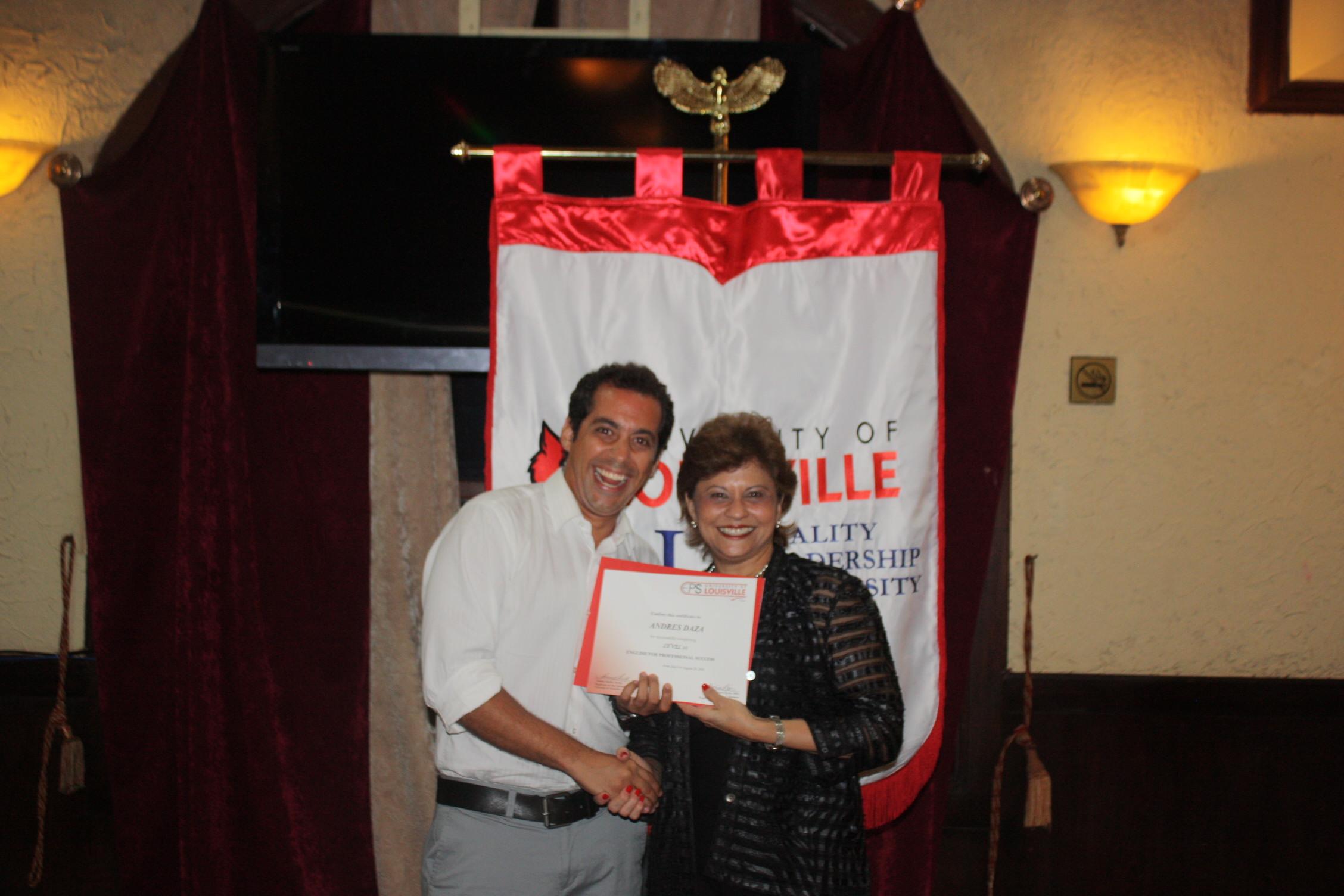 Andres Daza - Cursos de Ingles en Panama University of louisville