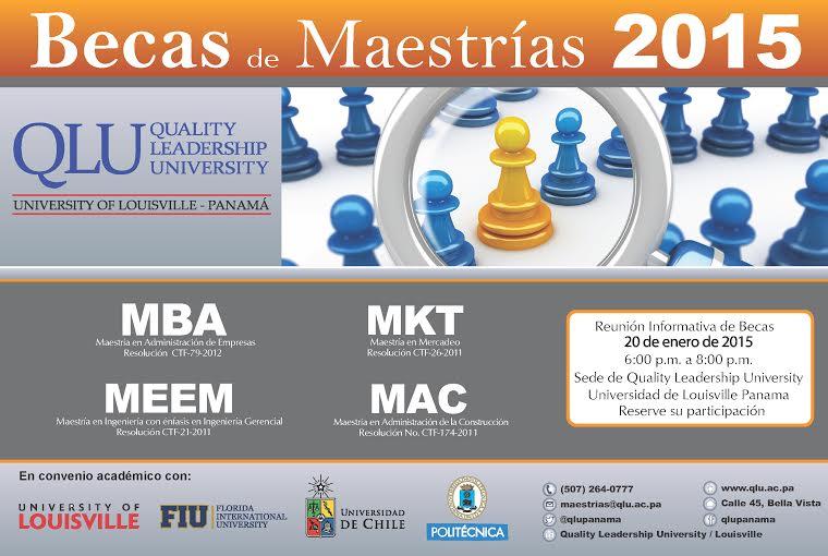 becas maestrias panama masters 2015