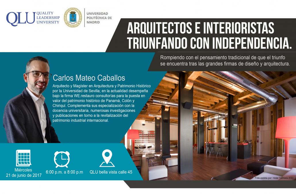 21 de junio conferencia gratuita arquitectos e - Arquitectos interioristas ...