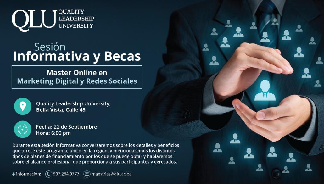 Sesió informativa de master en marketign digital y redes sociales de panama