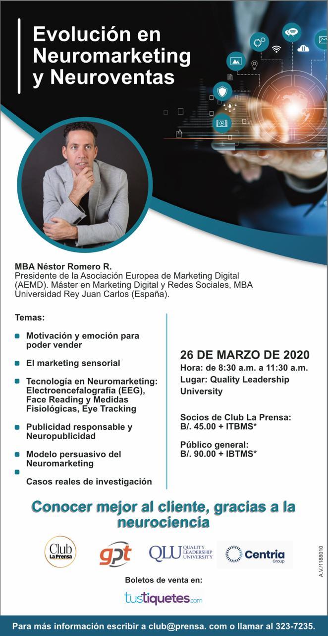 Conferencia nestor romero neuromarketing neuroventas panama