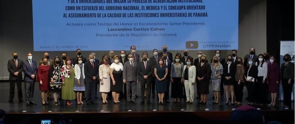 Firma del Acta de Compromiso para los Procesos de Reacreditación Institucional